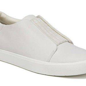 Vince Cantara White Leather Slip On Sneaker Sz 9